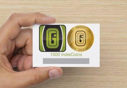 1500 indieCoin Karte